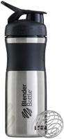 "Шейкер спортивный BlenderBottle ""SportMixer Stainless"", цвет: черный, 828 мл"