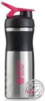 "Шейкер спортивный BlenderBottle ""SportMixer Stainless"", цвет: черный, розовый, фуксия, 828 мл"