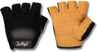 """Перчатки атлетические """"Indigo"""", цвет: черный, коричневый. Размер L"""