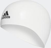 Шапочка для плавания Adidas Silicone 3D Cap, цвет: белый. Размер M