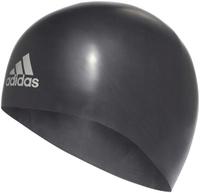 Шапочка для плавания Adidas Silicone 3D Cap, цвет: черный. Размер M