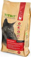 Корм сухой Titbit, для стерилизованных кошек, с мясом цыпленка, 1,5 кг