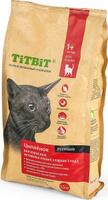 Корм сухой Titbit, для кошек от 1 до 7 лет, с мясом цыпленка, 1,5 кг