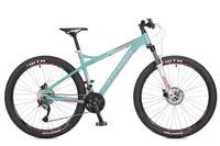 "Велосипед горный Stinger ""Omega D"", цвет: зеленый, 27.5"", рама 15"""
