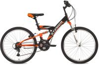 """Велосипед горный Stinger """"Banzai"""", цвет: черный, 24"""", рама 16"""""""
