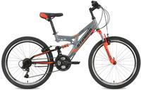 """Велосипед горный Stinger """"Highlander"""", цвет: серый, 24"""", рама 14"""""""