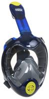 Маска для плавания Lucky Mask M2100, на все лицо, взрослая, цвет: синий. Размер L/XL