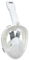 Маска для плавания Lucky Mask M2098G, на все лицо, взрослая, цвет: белый. Размер S/M