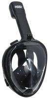 Маска для плавания Lucky Mask M2096G, на все лицо, взрослая, цвет: черный. Размер L/XL