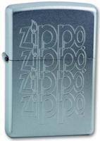 """Зажигалка Zippo """"Zippo Logo"""", цвет: серебристый, 3,6 х 1,2 х 5,6 см. 205 ZIPPO LOGO VARIATION"""