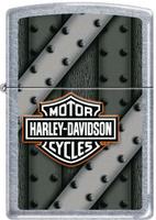"Зажигалка Zippo ""Harley-Davidson"", цвет: серебристый, 3,6 х 1,2 х 5,6 см. 48577"