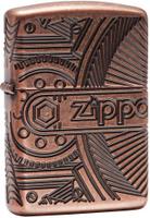 "Зажигалка Zippo ""Armor"", цвет: медный, 3,6 х 1,2 х 5,6 см. 53595"