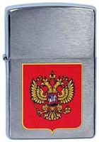 "Зажигалка Zippo ""Герб России"", цвет: серебристый, 3,6 х 1,2 х 5,6 см. 39772"