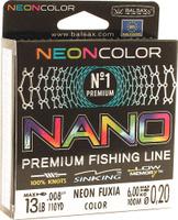 Леска Balsax Nano Neon Fuxia, 100 м, 0,20 мм, 6,0 кг