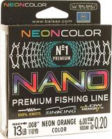 Леска Balsax Nano Neon Orange, 100 м, 0,20 мм, 6,0 кг