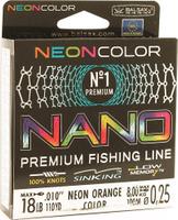 Леска Balsax Nano Neon Orange, 100 м, 0,25 мм, 8,0 кг