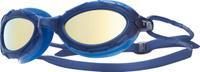 Очки для плавания TYR Nest Pro Mirrored, цвет: синий, золотой. LGNSTM