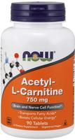 Карнитин Now Foods Acetyl-L-Carnitine 750 мг, 90 таблеток