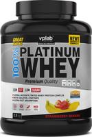 """Протеин VPLab """"100% Platinum Whey"""", клубника-банан, 2,3 кг"""