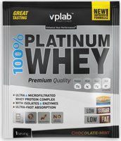"Протеин VP Laboratory ""100% Платинум Вей"", мятный шоколад, 30 г"