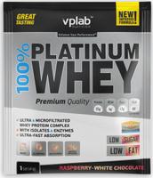 "Протеин VP Laboratory ""100% Платинум Вей"", малина, белый шоколад, 30 г"
