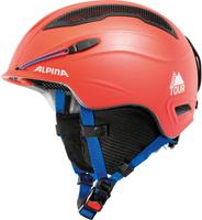Шлем горнолыжный зимний Alpina Snow Tour, цвет: красный, голубой. Размер 55-59 см