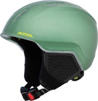 Шлем горнолыжный зимний Alpina Carat LX, цвет: зеленый, черный. Размер 48-52 см