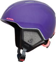 Шлем горнолыжный зимний Alpina Carat XT, цвет: фиолетовый, черный. Размер 51-55 см