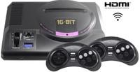 Игровая приставка Sega Retro Genesis HD Ultra + 150 игр (2 беспроводных 2.4ГГц джойстика, HDMI кабель)