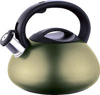 Чайник Endever, со свистком, цвет: темно-зеленый, 3 л