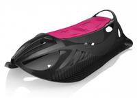 Детские пластиковые санки Gismo Riders Neon Grip, цвет: черный, розовый