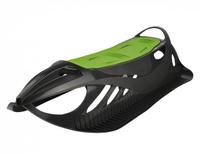 Детские пластиковые санки Gismo Riders Neon Grip, цвет: черный, зеленый