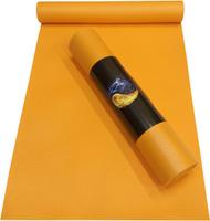 Коврик для йоги Ako-Yoga Yin-Yang Studio, цвет: оранжевый, 200 х 60 х 0,45 см