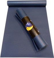 Коврик для йоги Ako-Yoga Yin-Yang Studio, цвет: синий, 175 х 60 х 0,45 см
