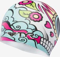 Шапочка плавательная TYR Vengadora Silicone Cap, LCSVEN, разноцветный