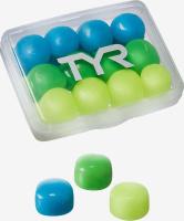 Беруши для бассейна TYR Kids' Soft Silicone Ear Plugs, LEPY12PK, разноцветный, 6 пар