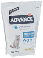 Корм сухой Advance Sterilized Turkey для стерилизованных кошек, с индейкой, 0,4 кг