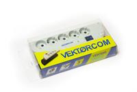 Сетевой фильтр VEKTOR Com, 1,8 м, 5 розеток