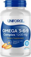 Omega 3 Uniforce Omega 3-6-9 Complex 1200 мг, 90 капсул