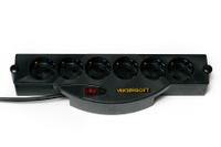 Сетевой фильтр VEKTOR Soft, 5 м, 6 розеток, черный