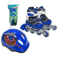Комплект: Роликовые коньки+защита Next, синий 27, 28, 29, 30 размер