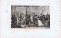 Гравюра Жан Мари Леру Великая французская революция. Установление свободы для умеренных. Офорт. Франция, Париж, 1834 год