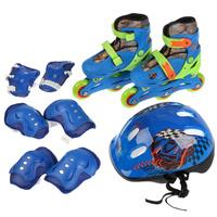 Комплект: Роликовые коньки+защита Next, синий 31, 32, 33, 34 размер