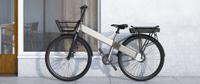 Электровелосипед Allocacoc городской ElectricBike Basic, серебристый