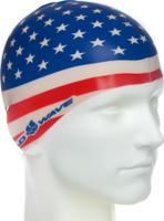 Шапочка для плавания MadWave Usa, 10015365, синий