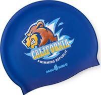 Шапочка для плавания MadWave California, 10023544, темно-синий