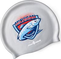 Шапочка для плавания MadWave Michigan, 10023546, серебристый