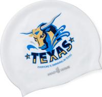 Шапочка для плавания MadWave Texas, 10023548, белый