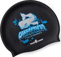 Шапочка для плавания MadWave Connecticut, 10023552, черный