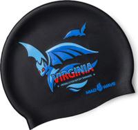 Шапочка для плавания MadWave Virginia, 10023559, черный